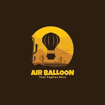 Logotipo escuro do balão de ar quente