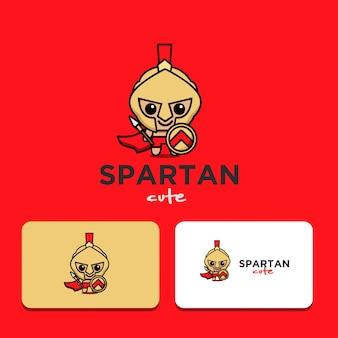 Logotipo espartano bonito