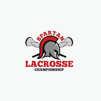 Logotipo espartano de lacrosse