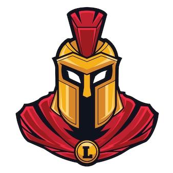 Logotipo espartano dos esportes