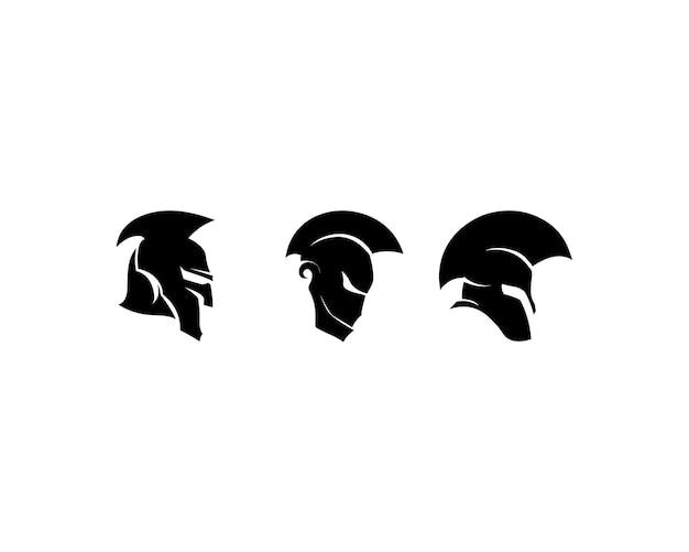 Logotipo espartano e vector design capacete e cabeça