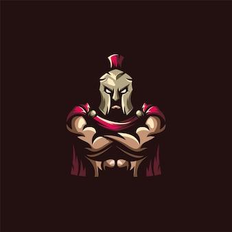 Logotipo espartano impressionante