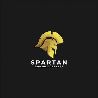 Logotipo espartano luxo cor de ouro.