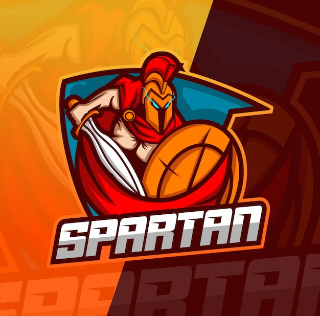 Logotipo espartano mascote esport