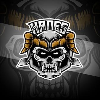 Logotipo esport com caráter hades