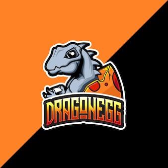 Logotipo esport com mascote dragonegg