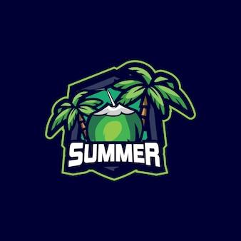 Logotipo esport de verão