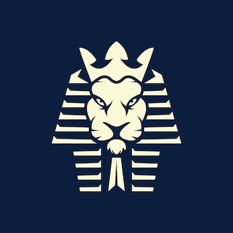 Logotipo esport do faraó leão