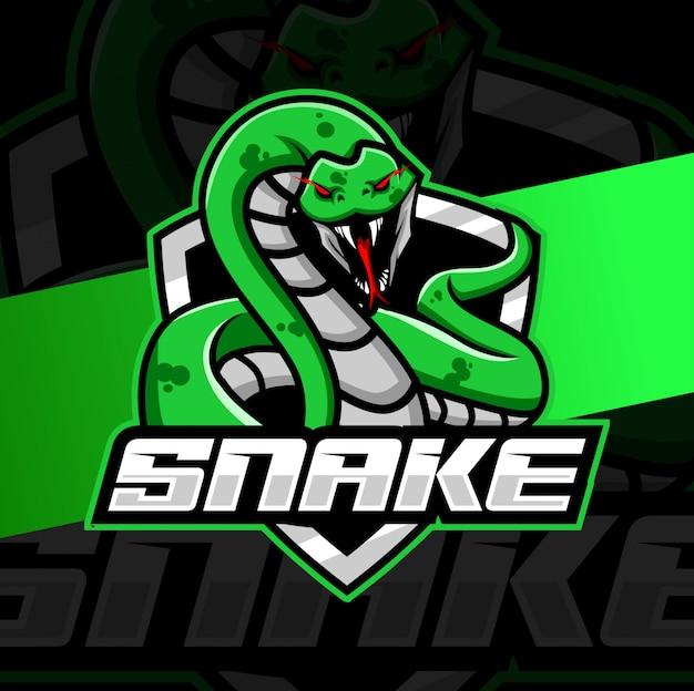 Logotipo esport mascote cobra