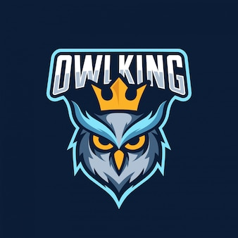 Logotipo esport rei coruja