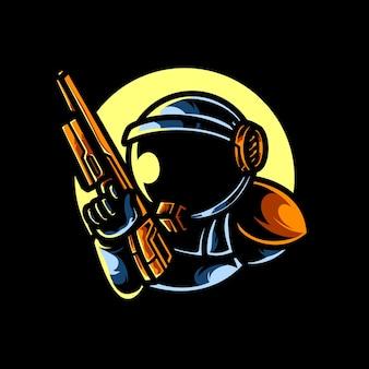 Logotipo esportivo astro snipper head e