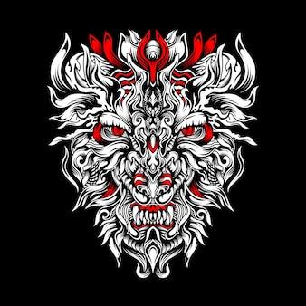 Logotipo esportivo de caçador de tigre cruel