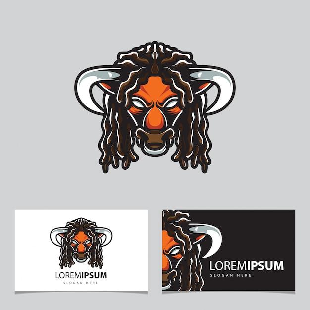 Logotipo esportivo do bulls head e