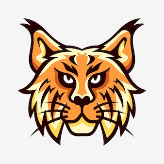 Logotipo esportivo do mascote do lynx head