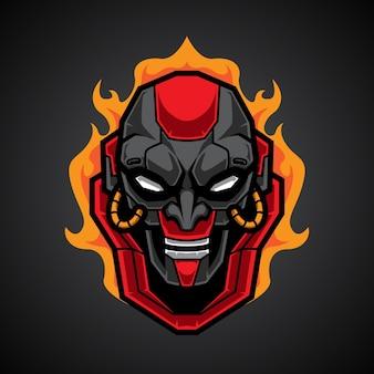 Logotipo esportivo mecha skull e