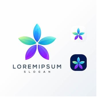 Logotipo estrela colorido