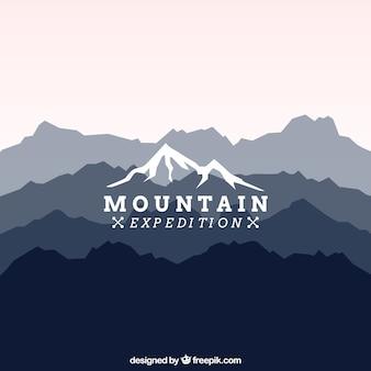 Logotipo expedição montanha