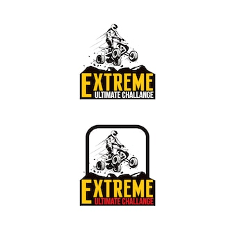 Logotipo extremo do esporte de atv