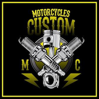 Logotipo feito sob encomenda das motocicletas