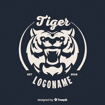 Logotipo feroz do tigre