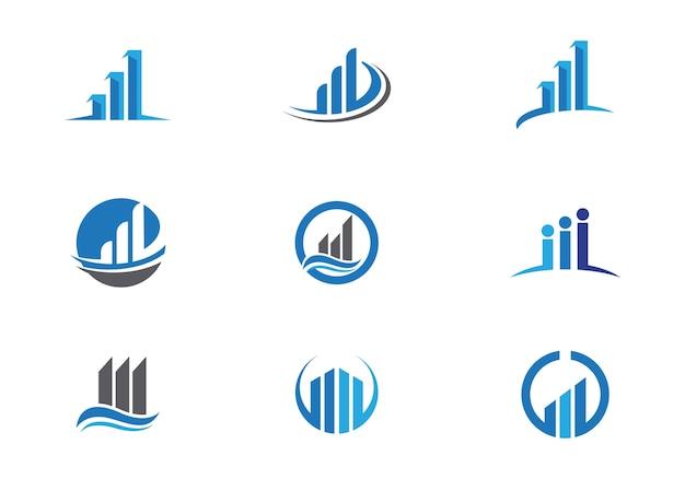 Logotipo finanças empresariais