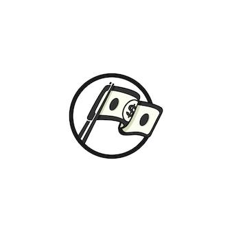 Logotipo financeiro e fiscal para consultor financeiro
