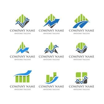 Logotipo financeiro estatístico
