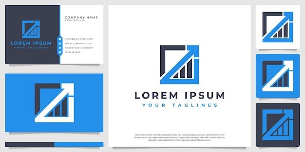 Logotipo financeiro, moderno e estilo clean