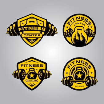 Logotipo fitness e crossfit
