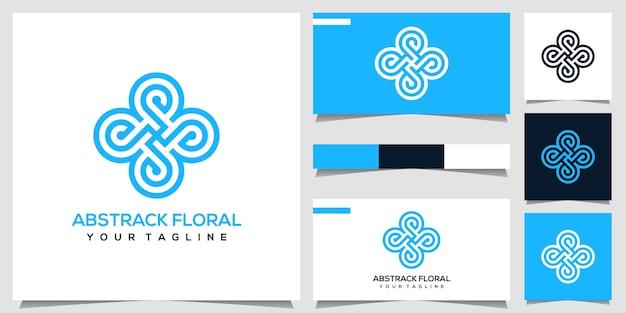 Logotipo floral abstrato