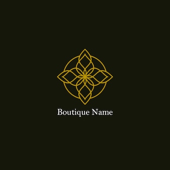 Logotipo floral boutique