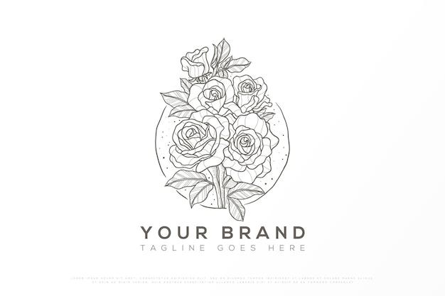 Logotipo floral em estilo feminino