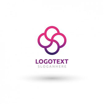 Logotipo floral gradiente
