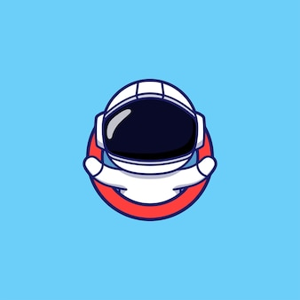 Logotipo fofo de astronauta