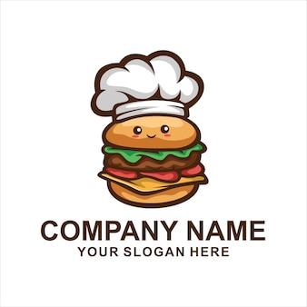 Logotipo fofo de hambúrguer