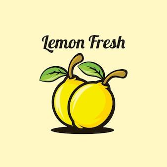 Logotipo fofo de limão fresco