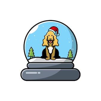 Logotipo fofo do personagem de natal dome