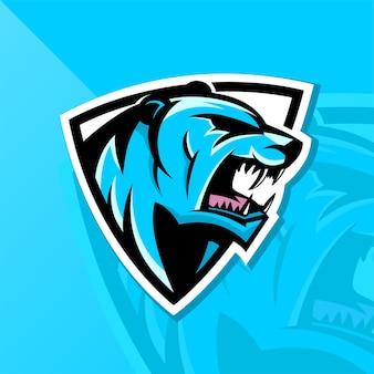 Logotipo forte da crista do urso