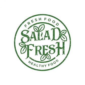 Logotipo fresco de salada