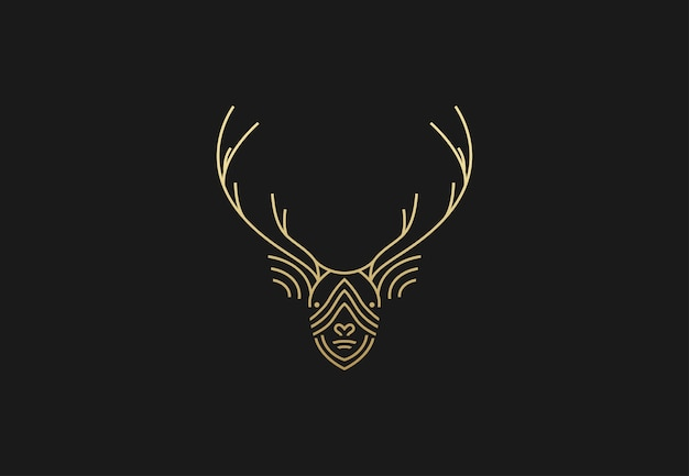 Logotipo geométrico de veado