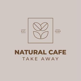 Logotipo geométrico minimalista de comida