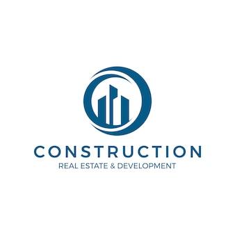 Logotipo global de construção imobiliária