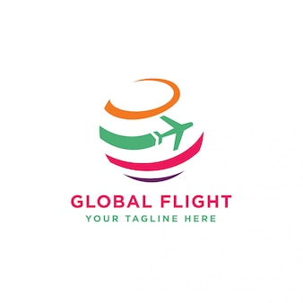 Logotipo global de voos