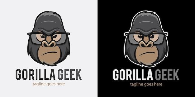 Logotipo gorila geek