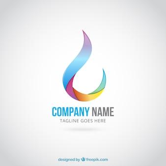 Logotipo gota abstrata