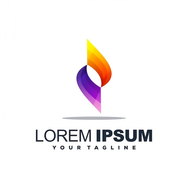 Logotipo gradiente abstrato impressionante