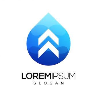 Logotipo gradiente colorido de seta