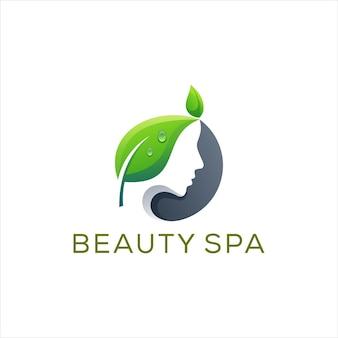 Logotipo gradiente da senhora da beleza