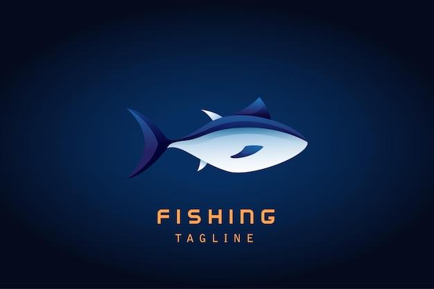 Logotipo gradiente de atum