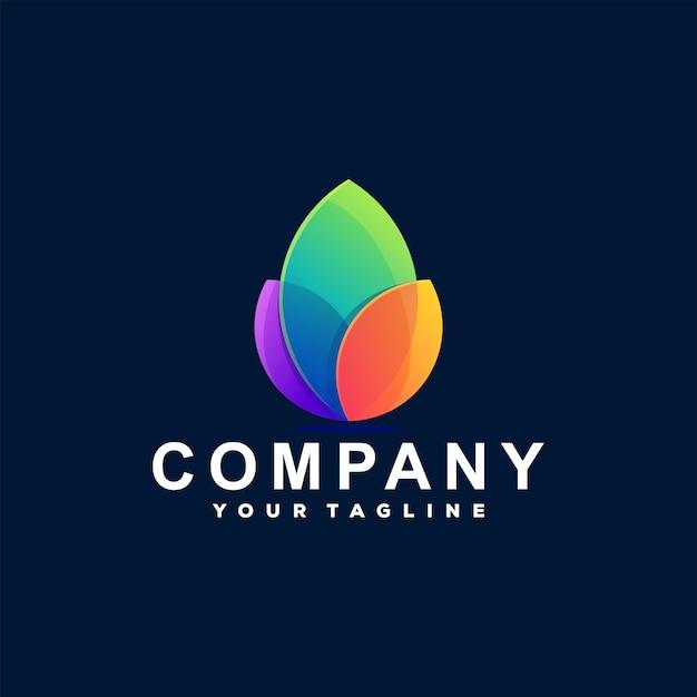 Logotipo gradiente de cor de flor